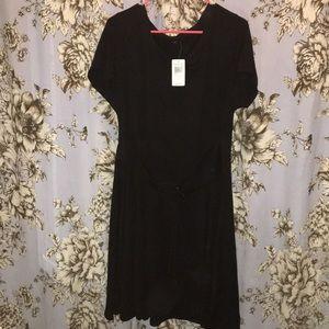 22d8215af732 torrid Dresses | Black Lace Up Corset Jersey Knit Tee Shirt Dress ...